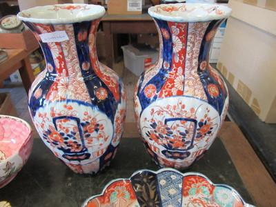 Pair-of-Imari-Vases