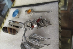 Assorted-silver-Broaches-etc