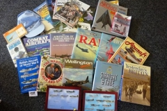 Lot-008-Collection-of-RAF-Memorabilia-Incl.-Books-Air-Show-Programmes-Photos-and-Mounted-Pin-Badges
