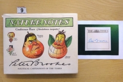 Lot-009-Nature-Notes.-Collected-Political-Cartoons-by-Peter-Brookes.-Signed-Copy-