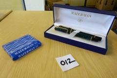 Lot-012-Waterman-Laureat-Pen-Set-in-Green