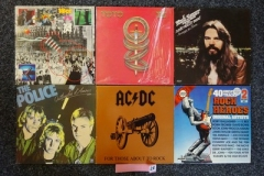 Lot-028-Six-Rock-Albums-by-Police-ACDC-10cc-Toto-Bob-Sega-and-Compilation