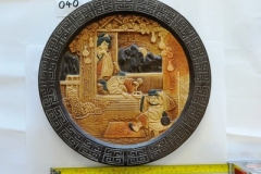 Lot-040-Bretby-Pottery-Wall-Plate-with-Oriental-Scene-Ref.1467