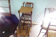 Lot-501-Bedroom-Chair-2-Stools-and-Magazine-Rack