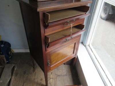 Antique-music-cabinet