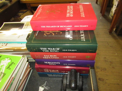 Set-of-Christopher-Tolkein-books-The-history-of-middle-of-earth