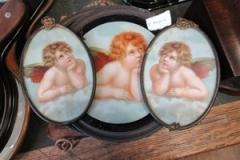 Set-of-vintage-angel-framed-figures
